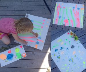 flower printing activity