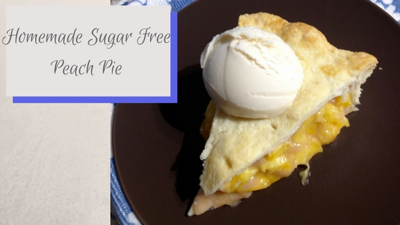 sugar free peach pie