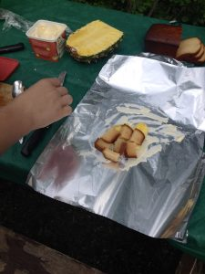 campfire pineapple upsidedown cake